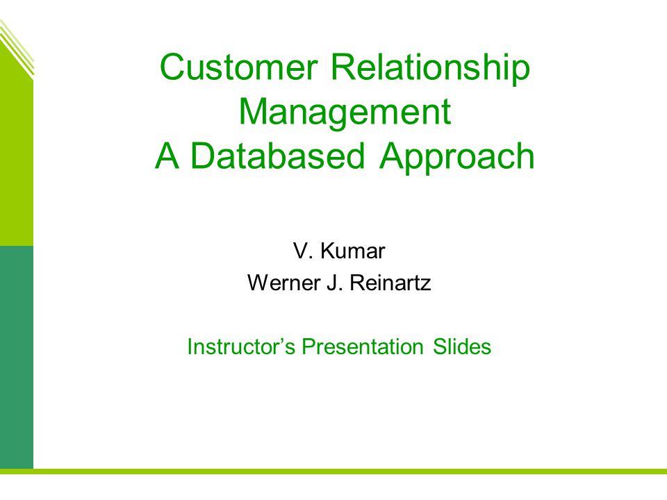 Customer Relationship Management A Databased Approach V.