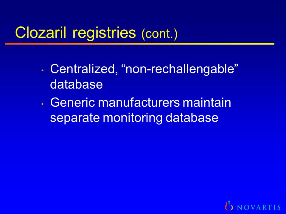 United States Registry and Analyses Clozaril National Registry (CNR)