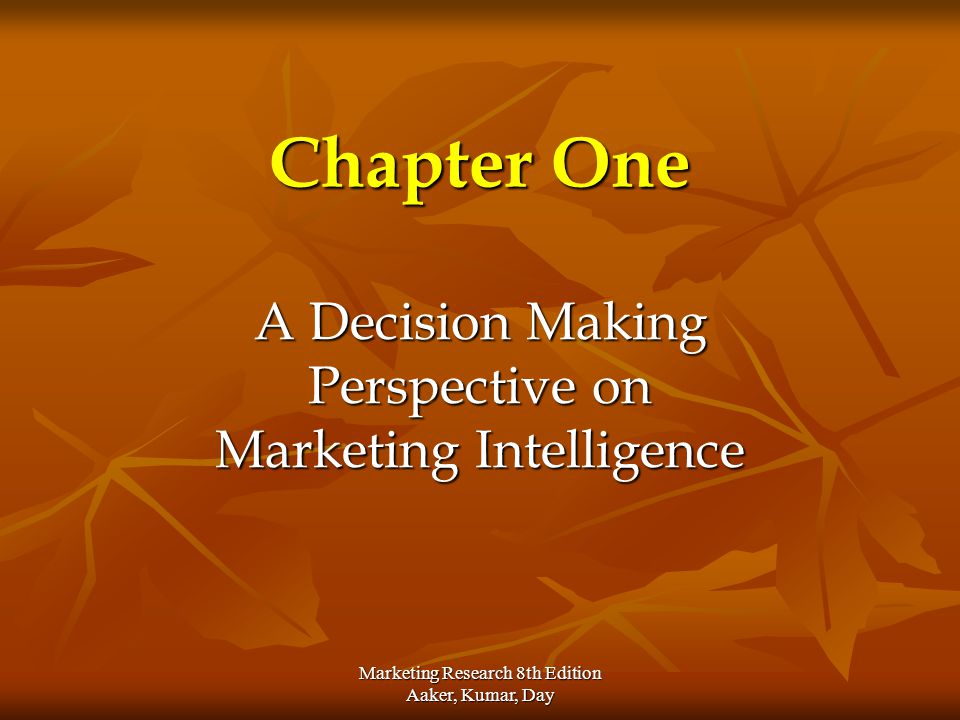 Marketing Research 8th Edition Aaker, Kumar, Day Implementation Starts with decision to proceed to a new program or strategy Starts with decision to proceed to a new program or strategy Commitment to objectives, budgets and timetables Commitment to objectives, budgets and timetables Specific measurable objectives must be set for all elements of marketing program Specific measurable objectives must be set for all elements of marketing program Did the elements achieve their objectives? Did the elements achieve their objectives? Should the marketing program be continued, discontinued, revised or expanded? Should the marketing program be continued, discontinued, revised or expanded?