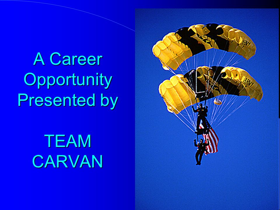 A Career Opportunity Presented by TEAM CARVAN