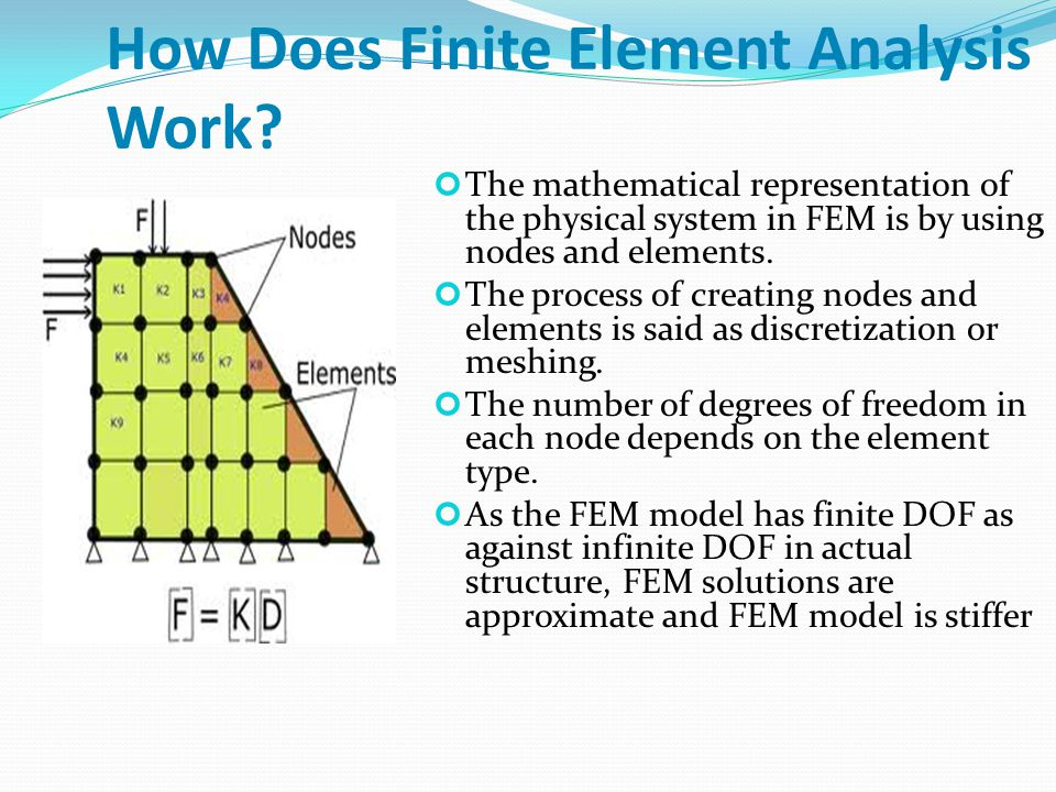 AIM OF THE PROJECT : In spite of providing approximate solutions to problems which cannot be solved analytically, there are some situations for which convergence is poor in FEM.