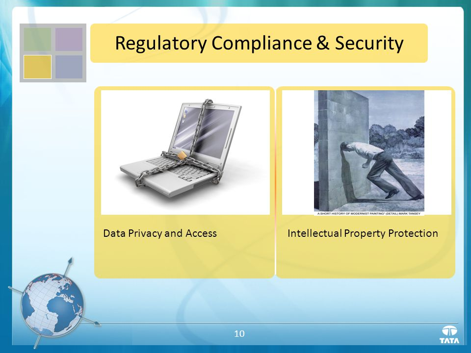 10 Regulatory Compliance & Security Intellectual Property ProtectionData Privacy and Access