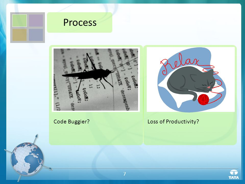 7 Process Code Buggier?Loss of Productivity?