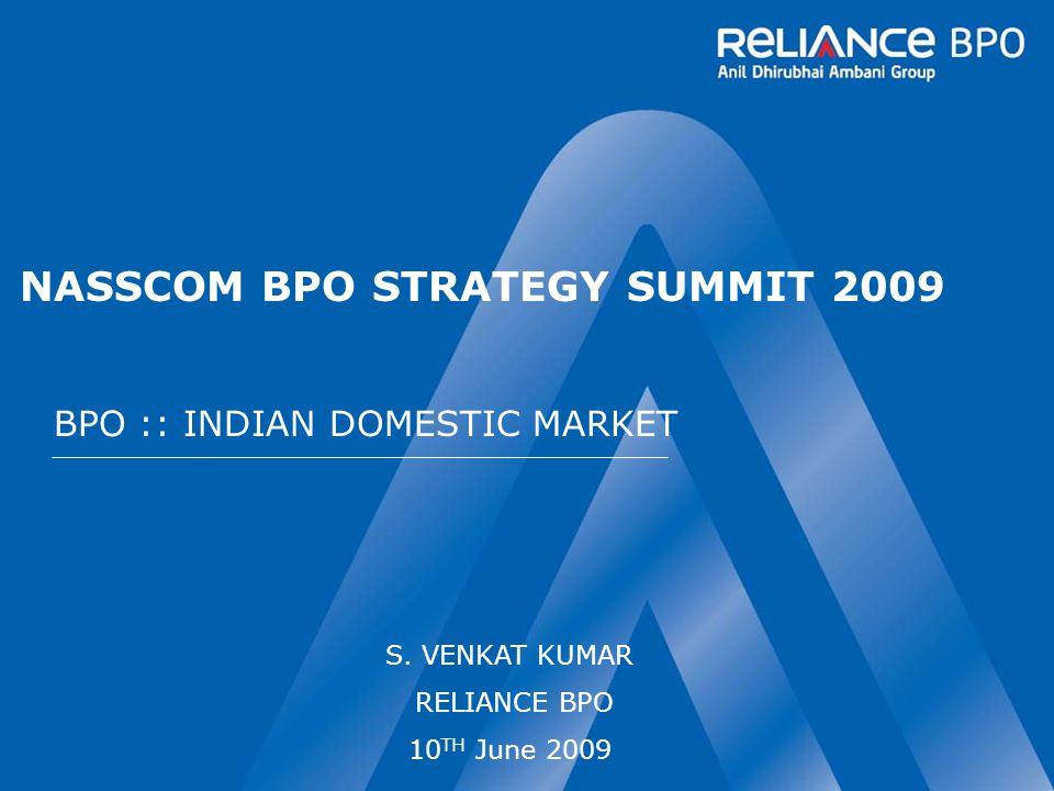 NASSCOM BPO STRATEGY SUMMIT 2009 BPO :: INDIAN DOMESTIC MARKET S.
