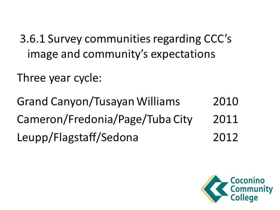 Survey Results 31 respondents requested specific information concerning CCC programs and services Follow-up with these residents provided a closer association with the college