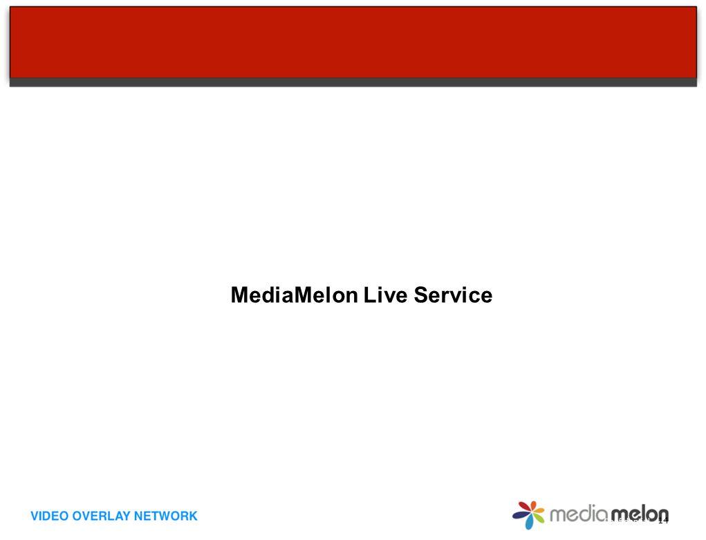 Confidential MediaMelon Live Service 14