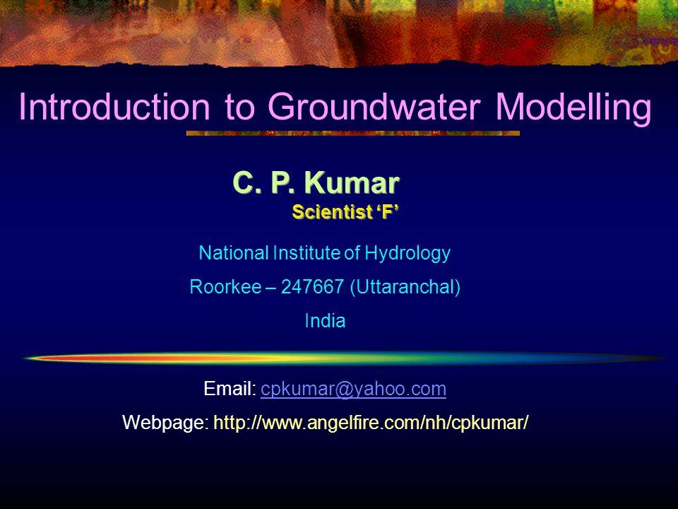 C.P. Kumar Scientist 'F' C. P.