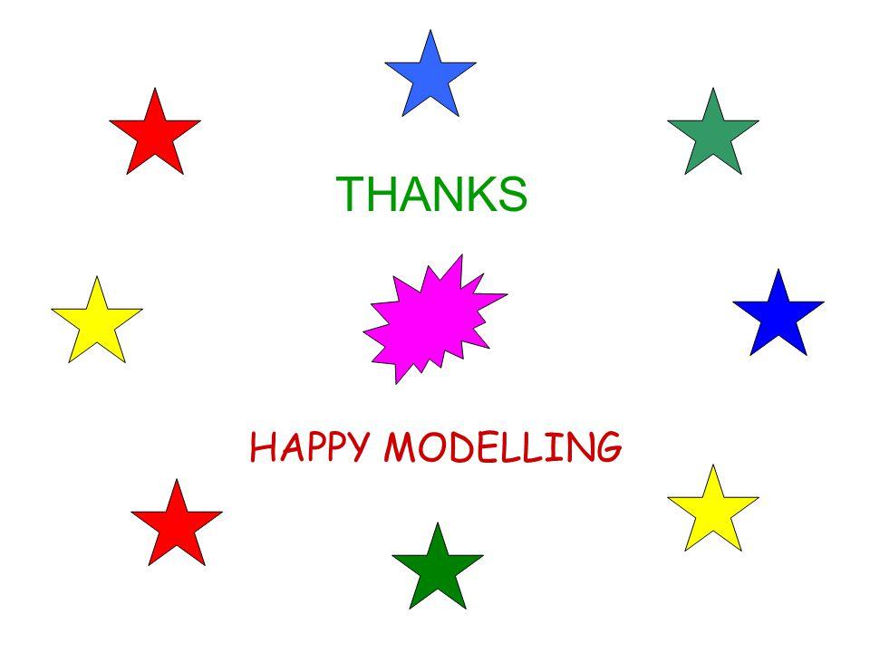 HAPPY MODELLING THANKS