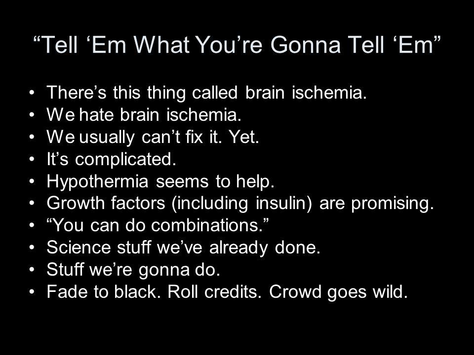 Brain Ischemia is a Big Deal 700,000 suffer a focal ischemic stroke each year.