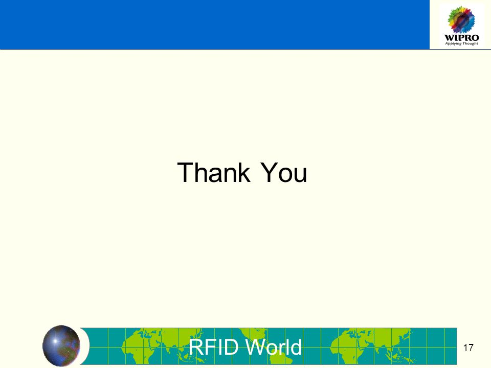 RFID World 17 Thank You