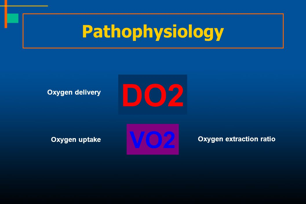 VO2 DO2 Oxygen delivery Oxygen uptake Oxygen extraction ratio