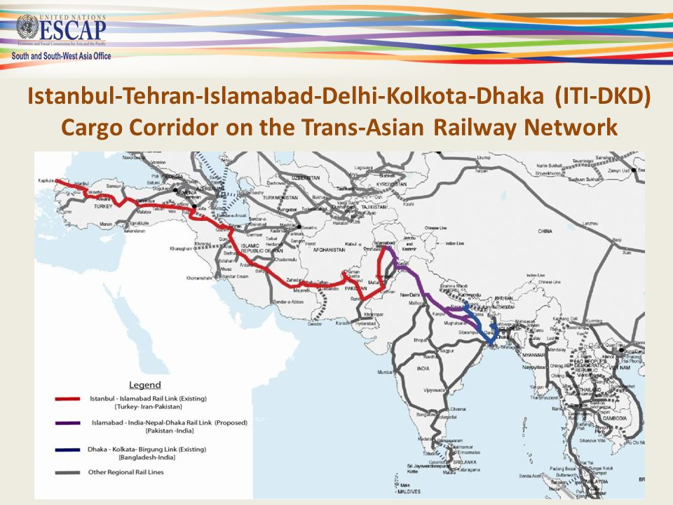 SSWA Transport Corridors Potential trade channels connecting – Europe, Central Asia and West Asia – South Asia – East Asia Delhi-Hanoi Rail Link Kunming-Singapore Rail Link – Many links with the landlocked countries Central Asia Afghanistan, Nepal, Bhutan – Can also be turned into economic corridors