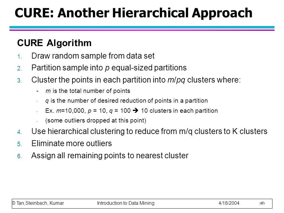 © Tan,Steinbach, Kumar Introduction to Data Mining 4/18/2004 38 SNN Clustering Algorithm … 5.