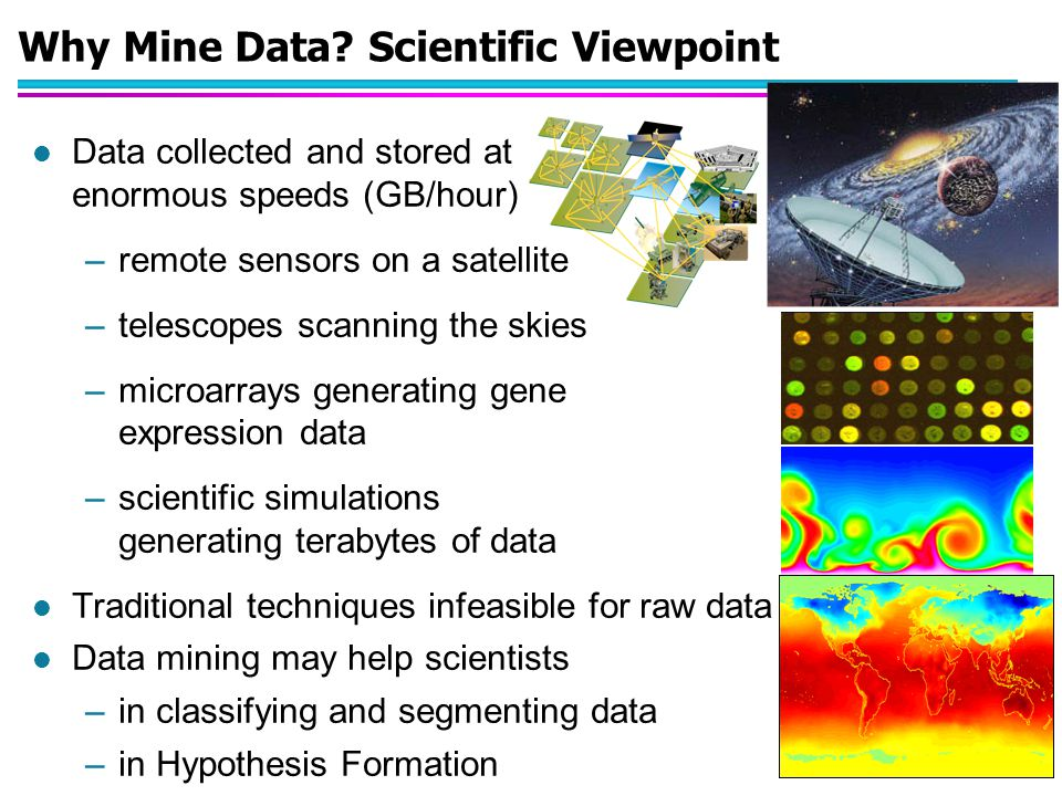 © Tan,Steinbach, Kumar Introduction to Data Mining 4/18/2004 10 Mining Large Data Sets - Motivation l There is often information hidden in the data that is not readily evident l Human analysts may take weeks to discover useful information l Much of the data is never analyzed at all The Data Gap Total new disk (TB) since 1995 Number of analysts From: R.