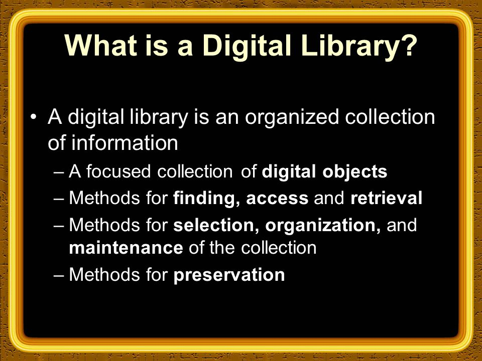 Overview of Greenstone Collections A typical digital library built with Greenstone will contain many collections, individually organized— though they bear a strong family resemblance.