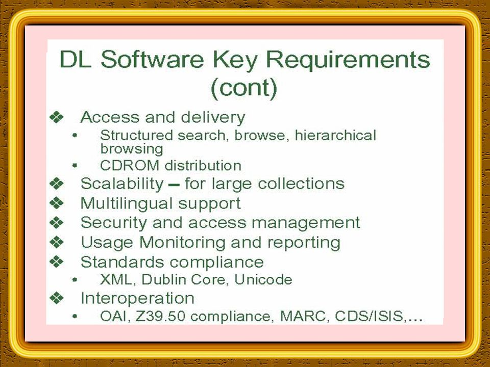 GSDL - Introduction Greenstone is a suite of software for building and distributing digital library collections.