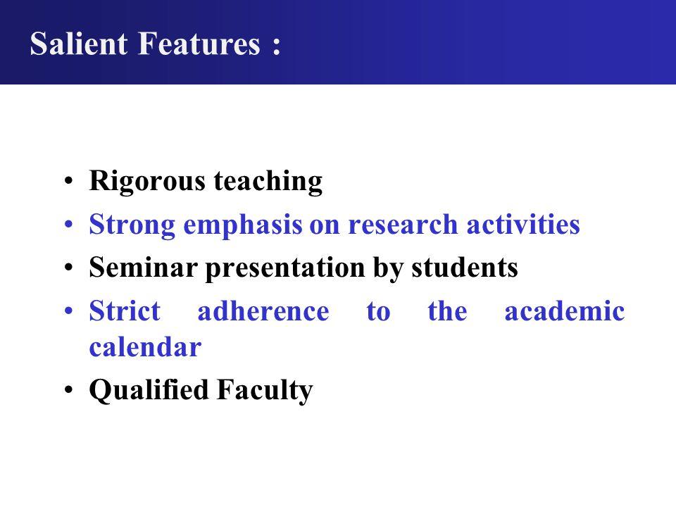 School of Chemical Sciences DEVI AHILYA VISHWAVIDYALAYA Indore, (M.P.) Academic Programs M.Sc.