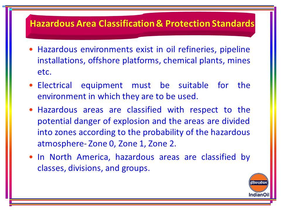 Hazardous environments exist in oil refineries, pipeline installations, offshore platforms, chemical plants, mines etc.