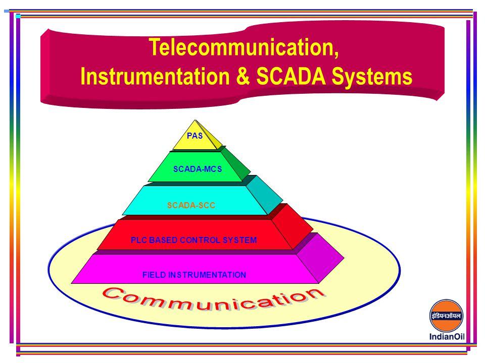 PAS SCADA-MCS SCADA-SCC PLC BASED CONTROL SYSTEM FIELD INSTRUMENTATION Telecommunication, Instrumentation & SCADA Systems