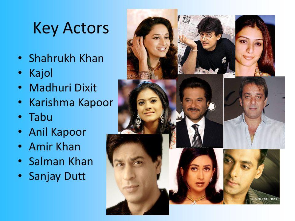 Key Actors Shahrukh Khan Kajol Madhuri Dixit Karishma Kapoor Tabu Anil Kapoor Amir Khan Salman Khan Sanjay Dutt