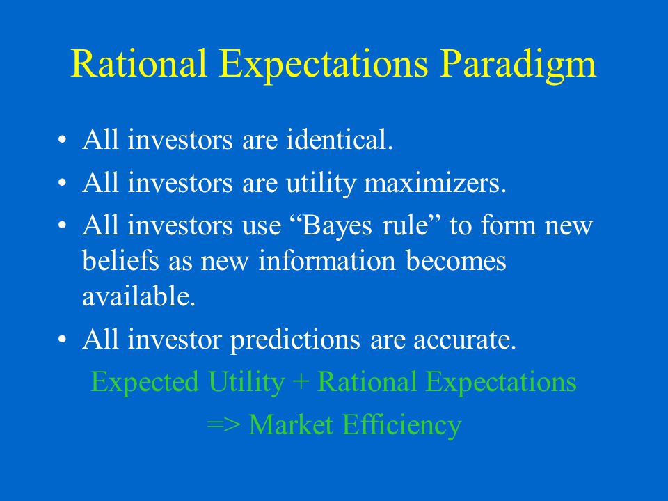 Are Financial Markets Efficient.Weak form of market efficiency supported to a certain extent.
