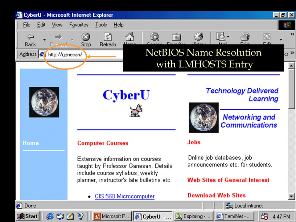 NetBIOS Name Resolution with LMHOSTS Entry