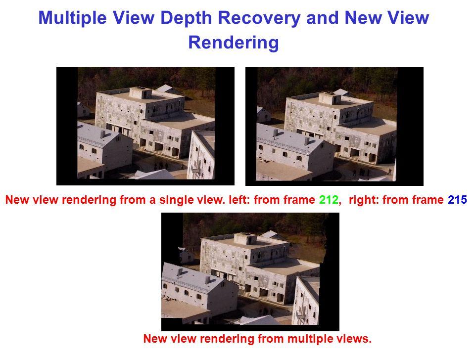 Depth computation from 3 views Depth map (frame 12) Video frame 11Video frame 12Video frame 13 Color segmentation (frame 12)