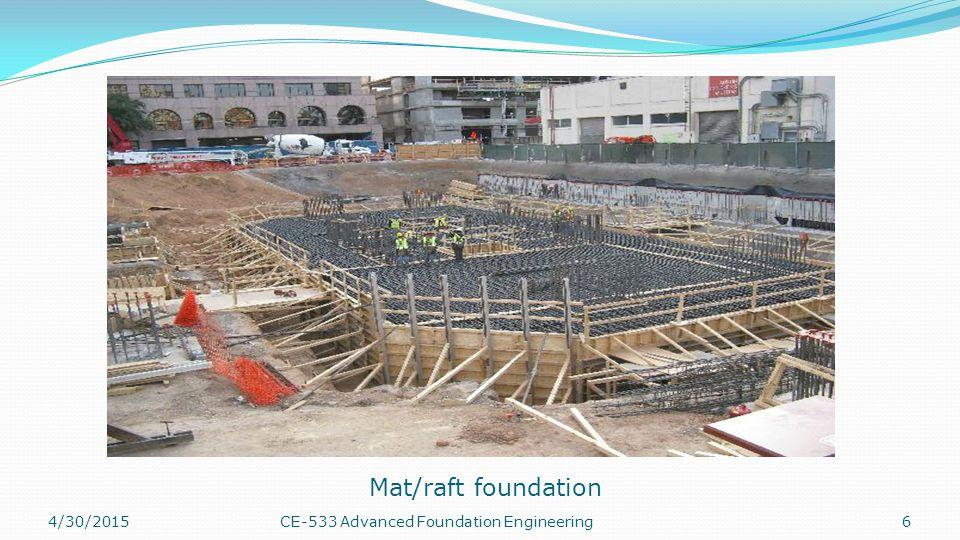4/30/201517CE-533 Advanced Foundation Engineering