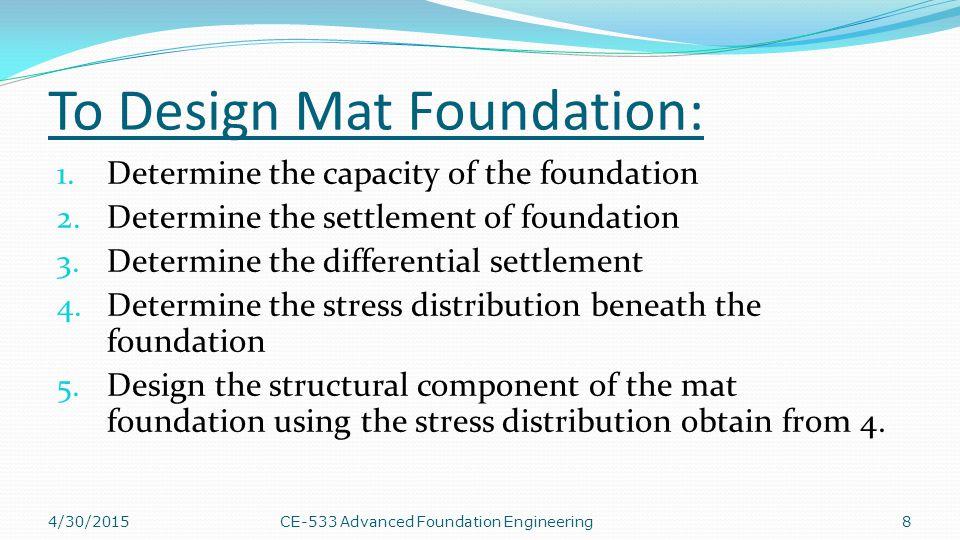 4/30/2015CE-533 Advanced Foundation Engineering29