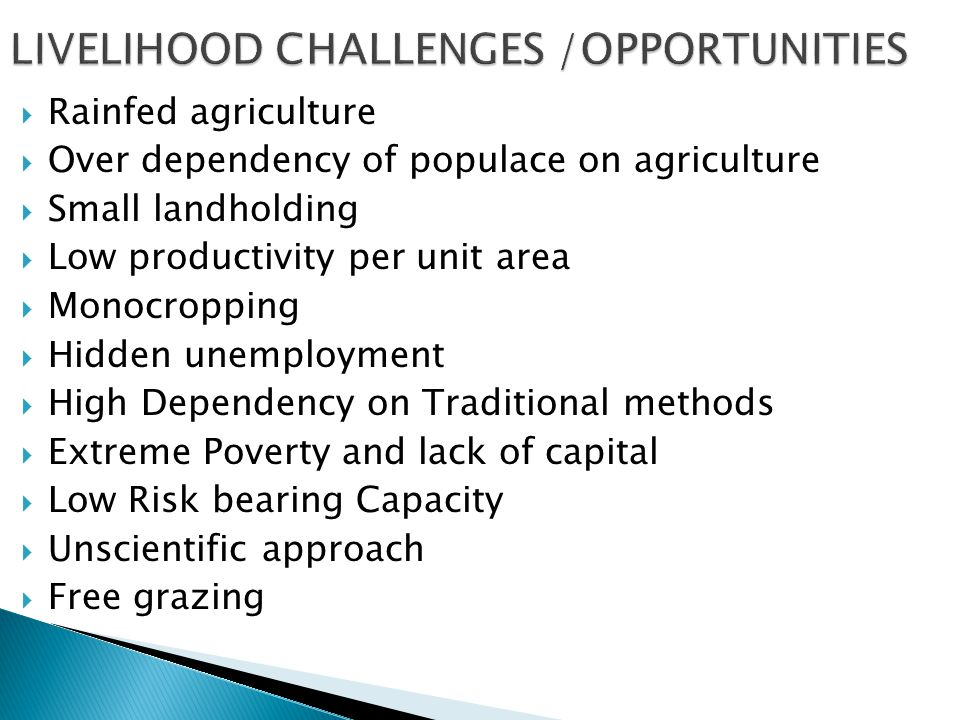 Institutional support can be obtained on various agricultural models and various types of agro-forestry modules to minimize risks and gain high returns through institutions like:  Birsa Agricultural University, Ranchi  Krishi Vigyan Kendra  HARP – Palandu, Ranchi  Indian Institute of Natural Resin and Gum, Ranchi  Dept.