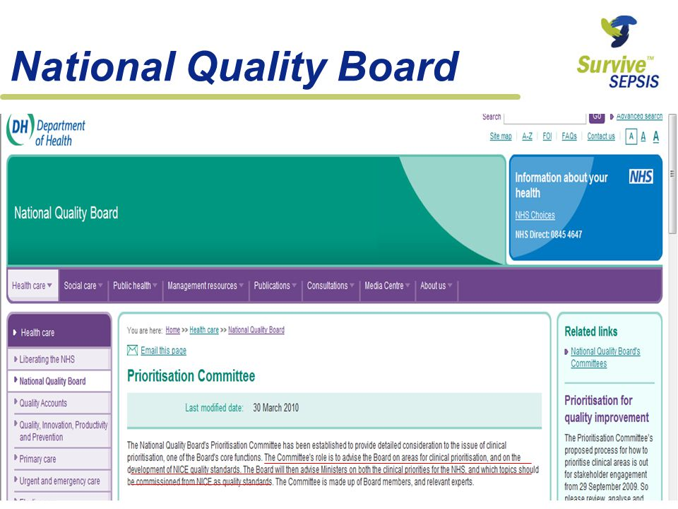 National Quality Board