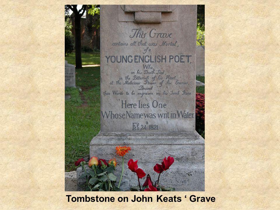 Tombstone on John Keats ' Grave