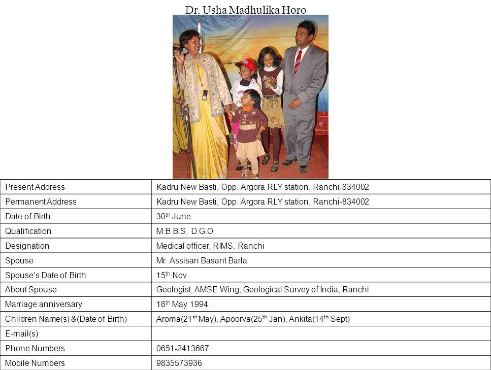 Present AddressKadru New Basti, Opp.