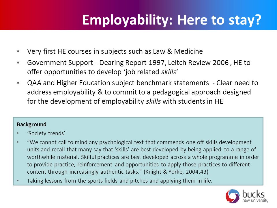 Employability: Here to stay.