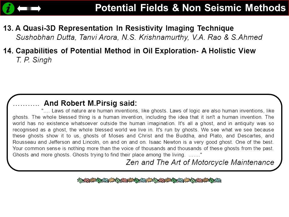 Potential Fields & Non Seismic Methods 13.