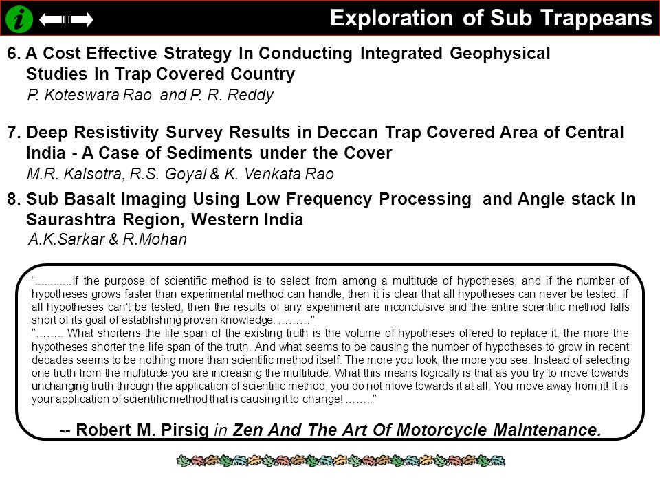 Exploration of Sub Trappeans 6.