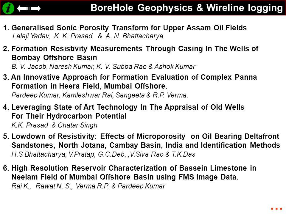 BoreHole Geophysics & Wireline logging 1.