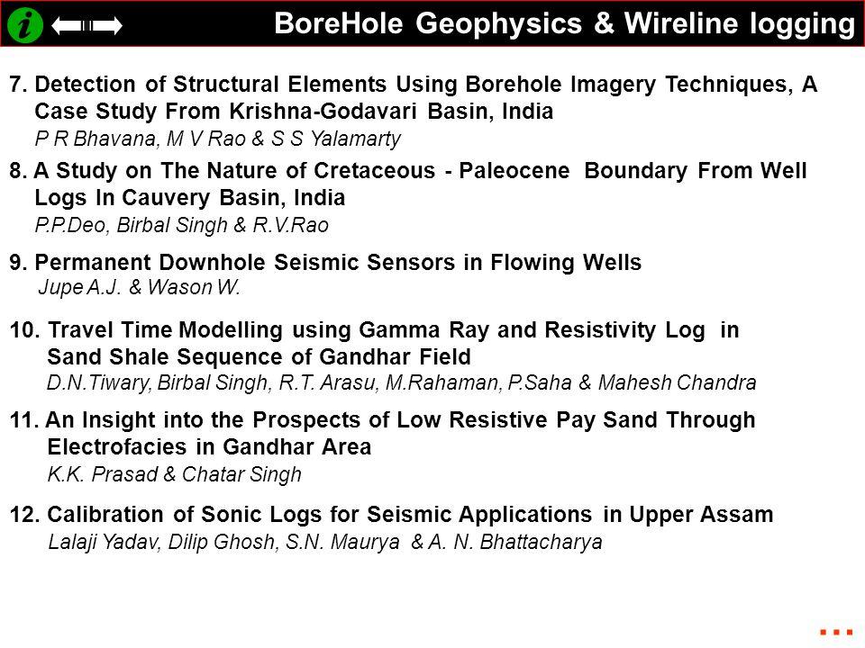 BoreHole Geophysics & Wireline logging 7.