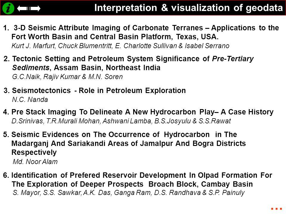 Interpretation & visualization of geodata 1.