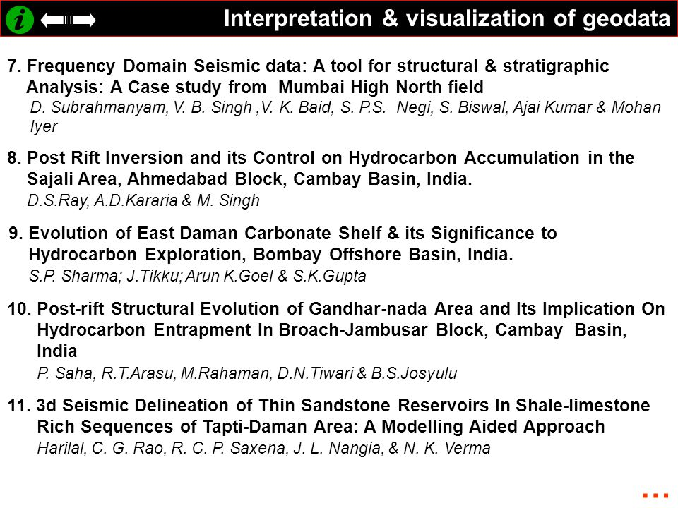 Interpretation & visualization of geodata 7.
