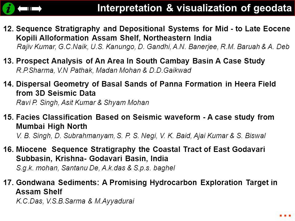 Interpretation & visualization of geodata 12.