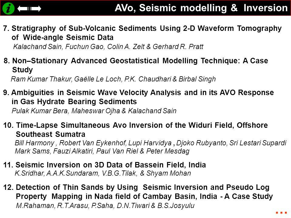 AVo, Seismic modelling & Inversion 7.