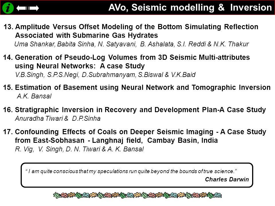 AVo, Seismic modelling & Inversion 13.
