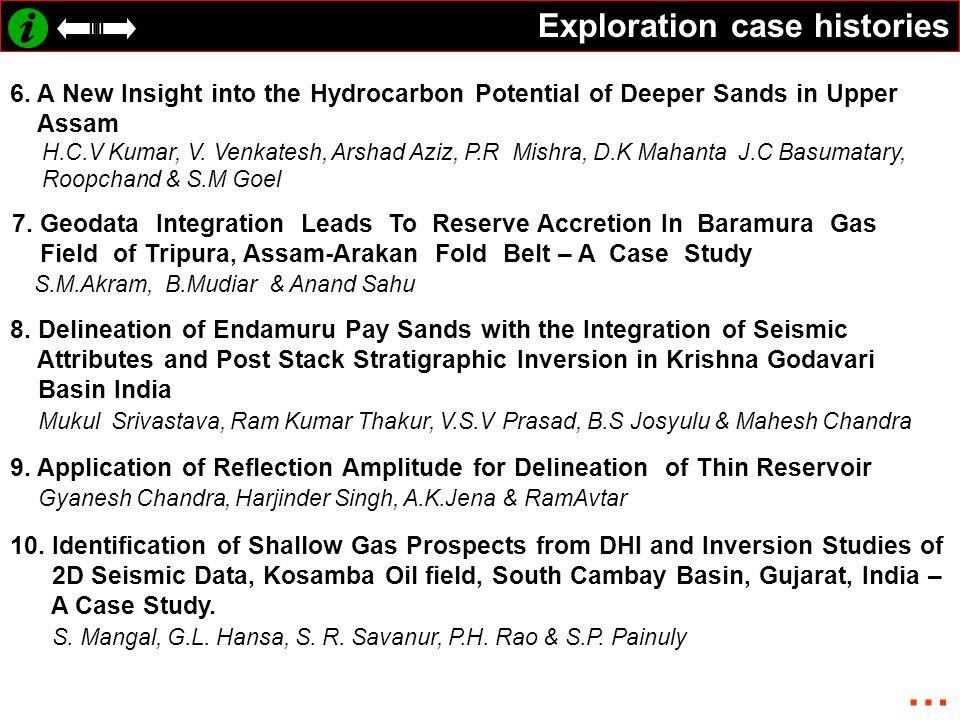 Exploration case histories 6.