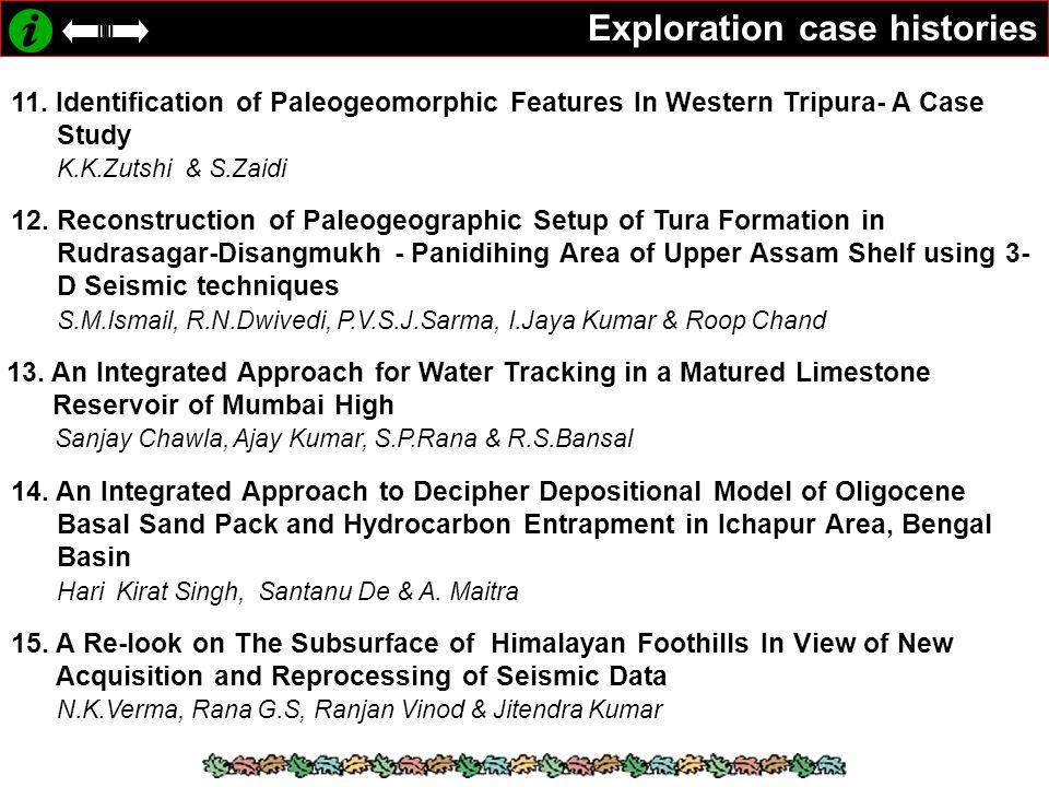 Exploration case histories 11.