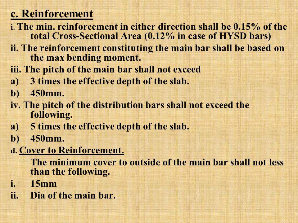c. Reinforcement i. The min.