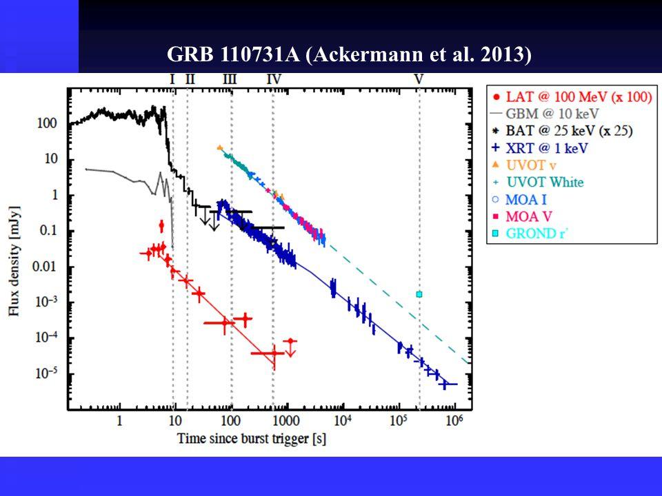 GRB 110731A (Ackermann et al. 2013)