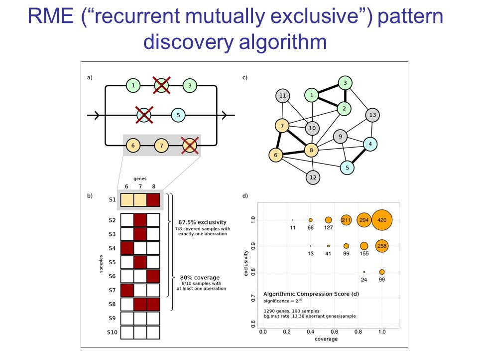 RME ( recurrent mutually exclusive ) pattern discovery algorithm