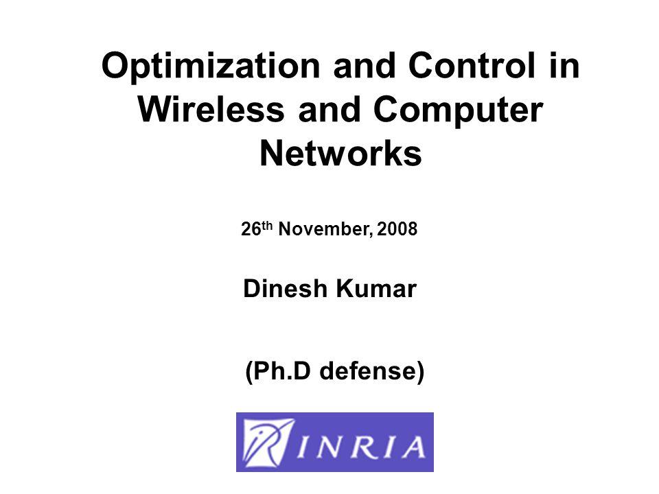 Optimization over: –Number of Relay Nodes –Inter-Node distances –Speeds of Intermediate Nodes