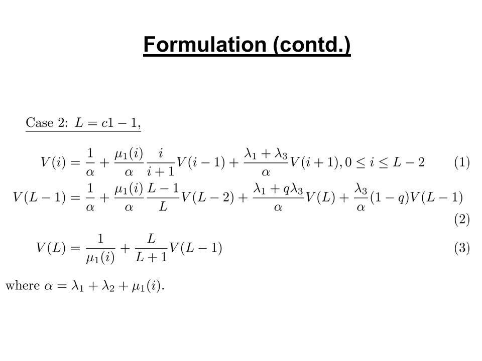 Formulation (contd.)